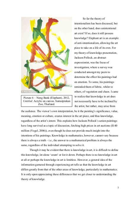 Exle Tok Essay by Tok Essay Exle 2012