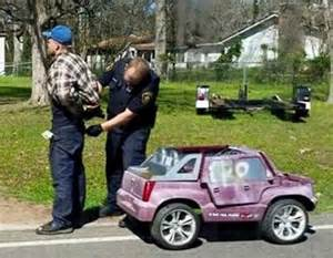 Battery Operated Cadillac Escalade Arrested While Driving Pink Car Ny Daily News