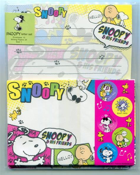 Set Snoppy by Snoopy Letter Set Collection Letter Sets