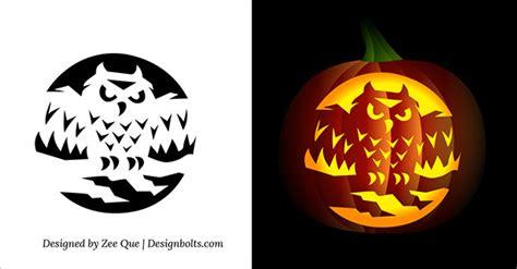printable owl pumpkin patterns owl pumpkin carving pattern printable