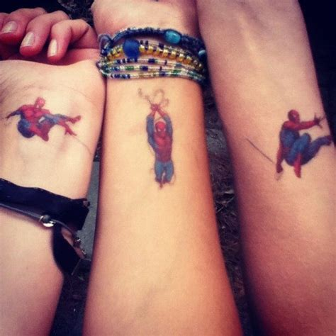 small cute spiderman tattoo ideas on wrist