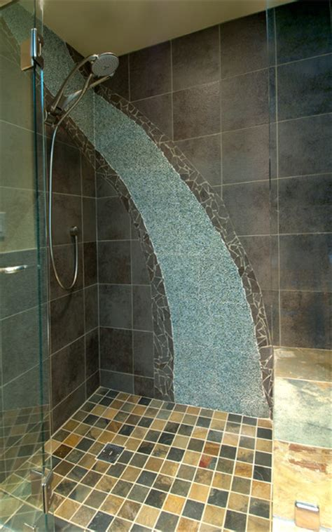 waterfall in bathroom waterfall shower bathroom contemporary bathroom