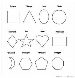 basic shapes coloring pages for preschool coloring pages