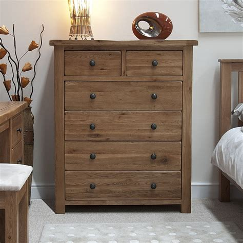 Rustic Oak Bedroom Furniture Tilson Solid Rustic Oak Bedroom Furniture 2 4 Chest Of Drawers Ebay