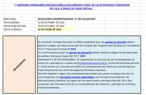 preguntas frecuentes retenciones sunat aprueban formularios virtuales para la declaraci 211 n y pago