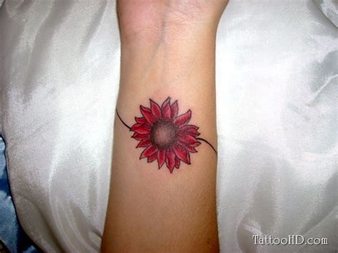 small sunflower tattoo on wrist 72 fantastic flower tattoos for wrist