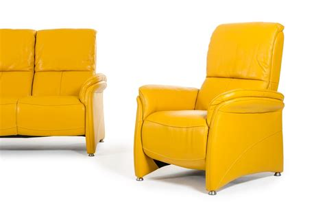 yellow leather sofas divani casa sunflower modern yellow italian leather sofa set