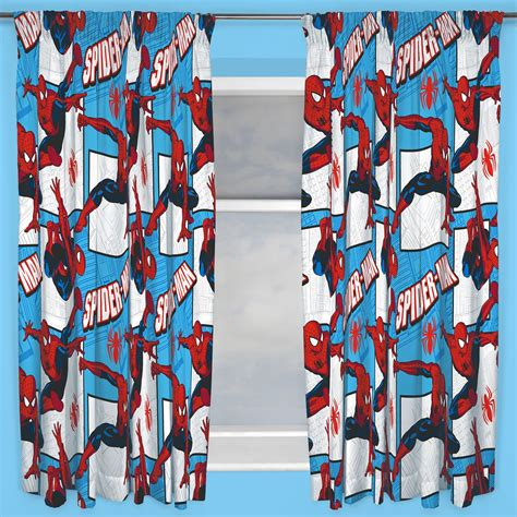 spiderman curtains marvel spiderman parker 66 quot x 72 quot curtains new spider