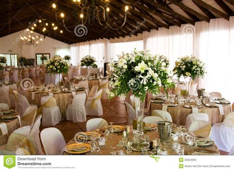 indoors wedding reception venue  decor stock