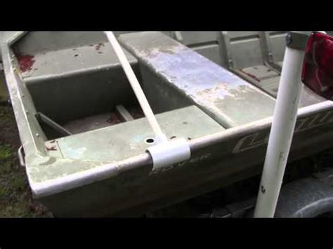 boat ladder supports 14 lowe jon boat cover support youtube