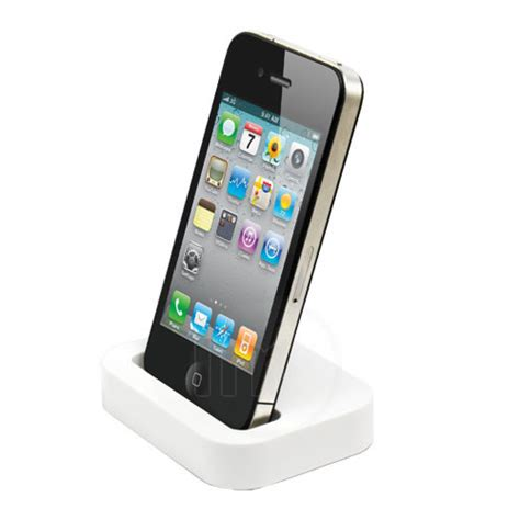 iphone desk stand charger desktop charger stand pod for apple iphone 4s 4 s 4g 8gb