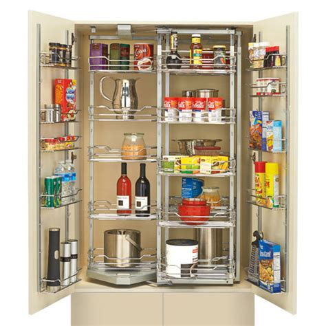 Chrome Pantry Shelves by Rev A Shelf Chef S Roll Out Pantry With Door Storage