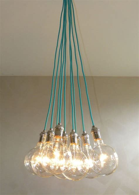 Cluster Pendant Light 9 Cluster Any Colors Chandelier Pendant Lighting Cluster Modern Chandelier Rainbow Cloth Cords