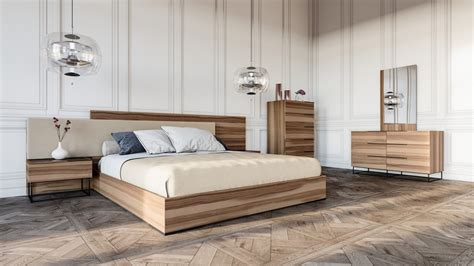 modern walnut bedroom furniture domus matteo italian modern walnut fabric bedroom set