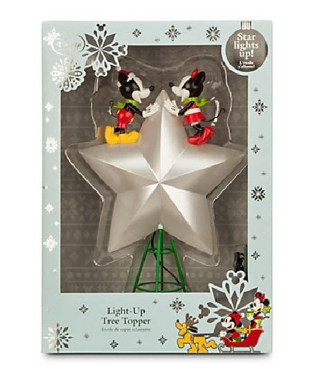 mickey lights up christmas disney store mickey and minnie mouse christmas tree topper