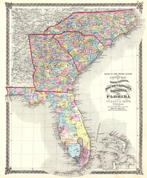 map of and carolina atlas of the united states county map of carolina