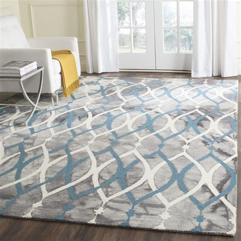 grey and blue area rugs bungalow castries tufted grey ivory blue area rug reviews wayfair