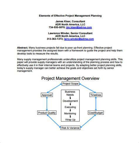 project planning template pdf 15 project management plan templates free sle