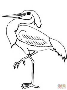 what color is heron wading heron coloring page free printable coloring pages