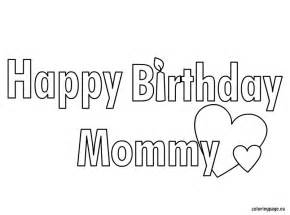 Happy Birthday Mommy Coloring Page sketch template