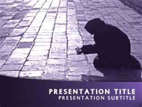 powerpoint themes free download poverty royalty free poverty powerpoint template in purple