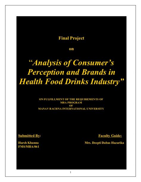 Mba Project Analysis Of Advertisement Of Drands by Harsh Khanna Marketing Project Mba