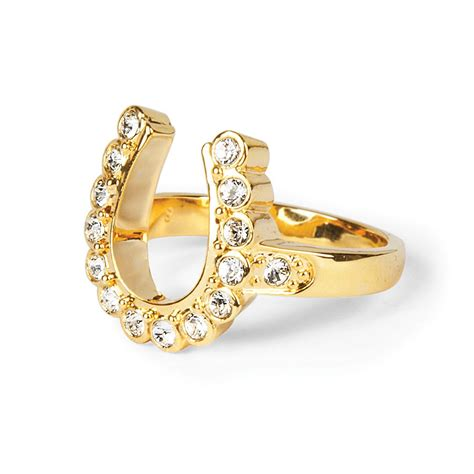 elvis 18kt gold plated horseshoe ring musictoday superstore
