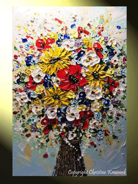 original abstract painting flower bouquet quot just