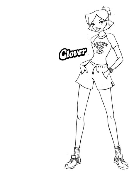 Totally Spies Coloring Pages totally spies coloring pages learn to coloring