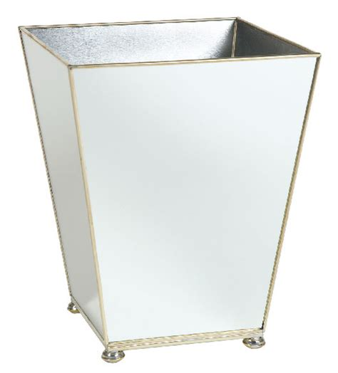 mirrored bathroom accessories sets mirrored bath accessories mirrored wastebasket bath set