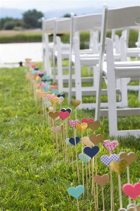 25 cheap and simple diy wedding decorations home design and interior - Diy Wedding Aisle Decor