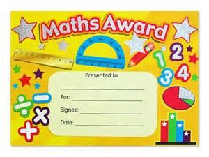 certificate maths award sparkling
