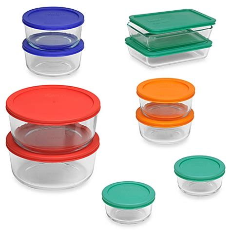 pyrex glass storage containers pyrex storage plus 20 container set with color lids