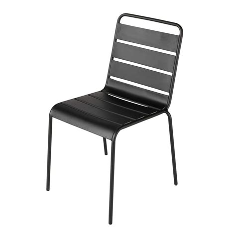 Black Metal Garden Chairs by Metal Garden Chair In Black Batignoles Maisons Du Monde