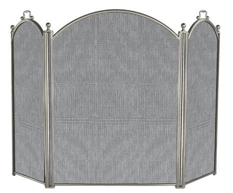 pewter fireplace screens 52 3 fold satin pewter finish fireplace screen