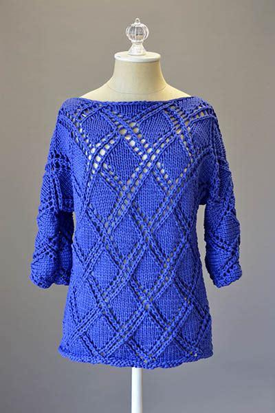 diamond pattern knit sweater diamond cross pullover knitting bee