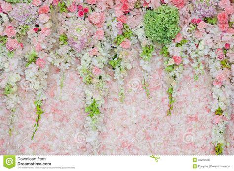 Wedding Background Decoration by Beautiful Flower Wedding Decoration Stock Photo Image