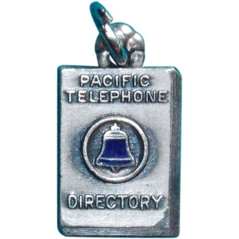 Pacific Bell Phone Lookup Sterling Enamel Phone Directory Signed Vintage Estate Charm From Jewelpigs On Ruby