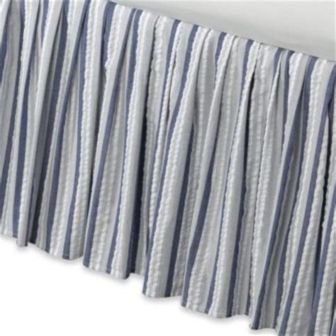 striped bed skirts buy blue and white striped bed skirt from bed bath beyond