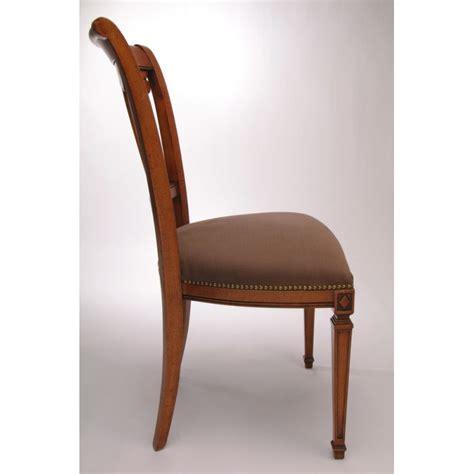 chaise directoire chaise directoire motif central oval splendeur du bois