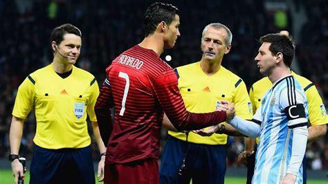 Cristiano ronaldo lionel messi argentina portugal friendly match old