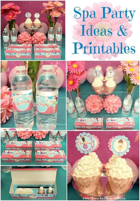 printable spa party decorations spa party ideas printables spa party spa and favors