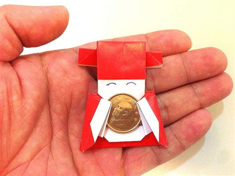 New Year Paper Folding - 可愛小財神爺 摺紙 pinbox 親子手作 diy