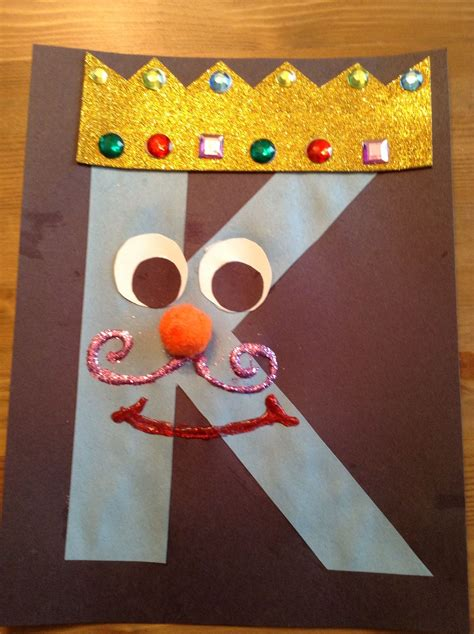 craft kindergarten letter k crafts search our secret crafts