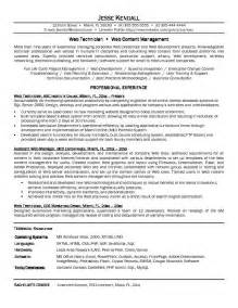 Resume Sle For Computer Technician by Information Technology Resume Entry Level