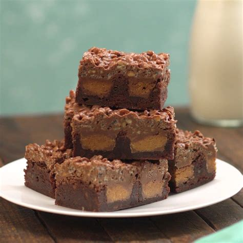 Peanut Butter Melted Brownies Premium crackle peanut butter cup brownies recipe tiphero