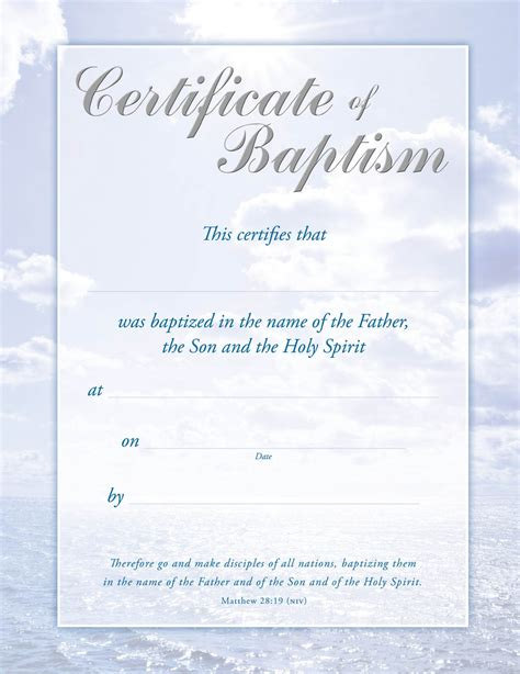 search results for free printable baptism certificate