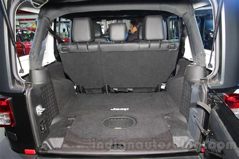 jeep compass 2017 trunk space jeep wrangler unlimited boot space at auto expo 2016