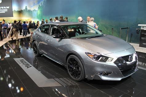 midnight nissan maxima nissan midnight edition lineup reveal at chicago auto show