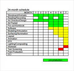 production schedule templates 10 production schedule templates free sle exle